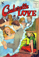 Cinderella Love v2 #28 st.john romance comic book cover art by Matt Baker