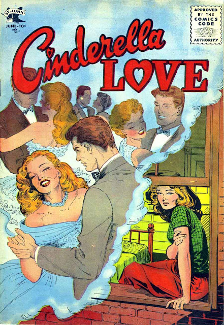 Cinderella Love v2 #28 st.john romance comic book cover art by Matt Baker