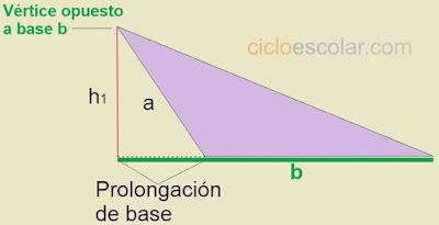 Prolongar la base de un triángulo ejemplo