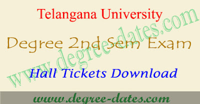 TU degree 2nd sem hall ticket 2017 download telangana university