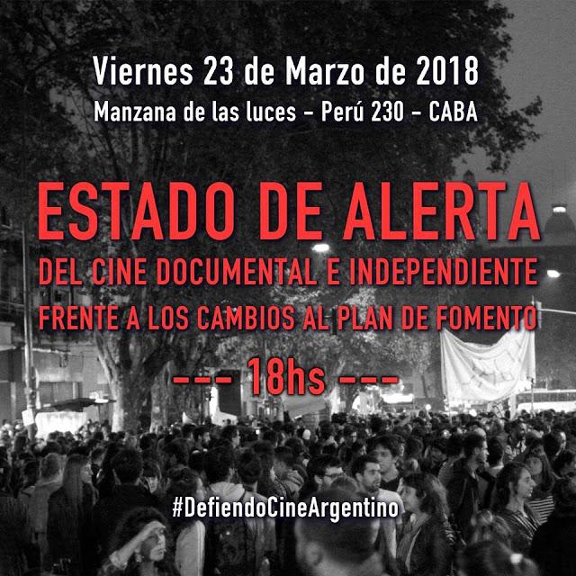 Estado de alerta en defensa del cine argentino