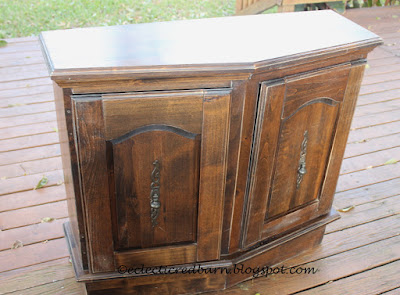 Eclectic Red Barn:  Original Entry Cabinet