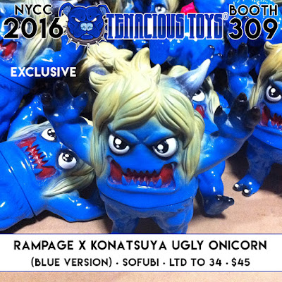 New York Comic Con 2016 Exclusive Blue Ugly Onicorn Vinyl Figure by Rampage Toys x Konatsuya x Tenacious Toys