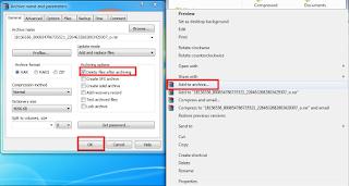 Menghapus FIle/Folder Menggunakan WinRAR