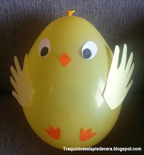 Decorações da Páscoa com balões