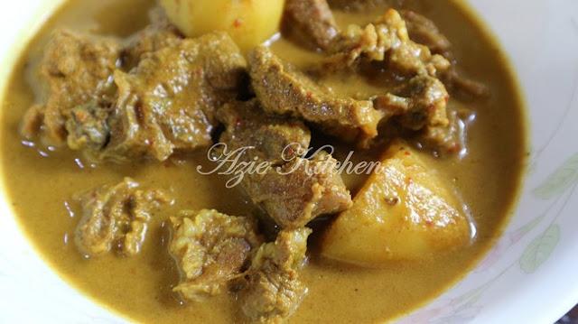 Kari Daging Gulai Darat Kelantan