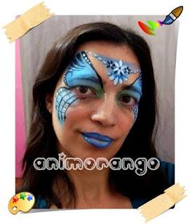Pintura Facial face painting teia aranha