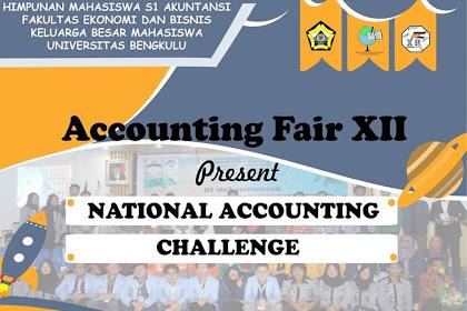 Lomba Akuntansi Accounting Fair XII Nasional 2019 Mahasiswa
