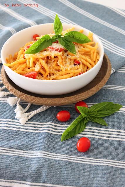getrocknete Tomaten Pastasoße