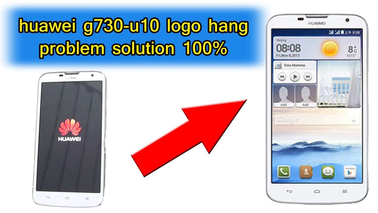 Huawei G730-U10 hang logo done sd update | Easy Root Android