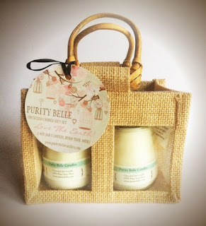 Purity Belle Candles Jute Gift Bag