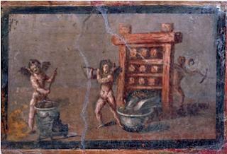 Amorcillos del Perfume. Casa dei Cervi. Herculano. Lacasamundo.com