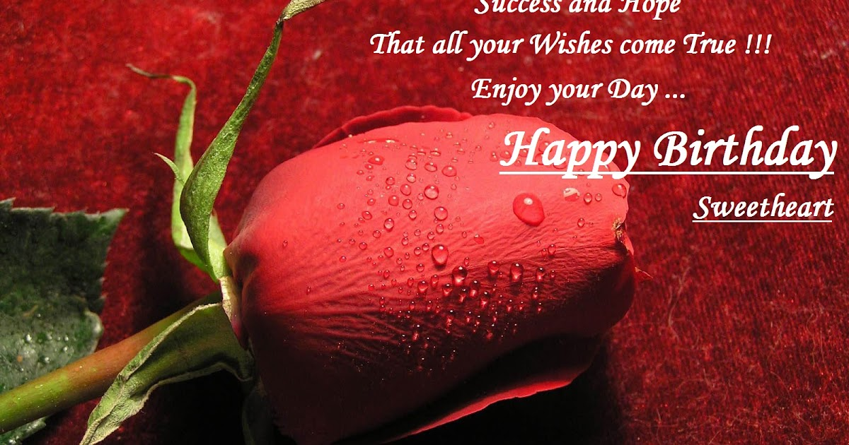 Happy Birthday Wishes To Wife ~ Romantic happy birthday wishes for wife with images and quotes