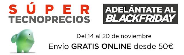 Top 10 ofertas catálogo Adelántate al Black Friday (II) de El Corte Inglés