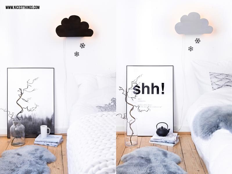 Schlafzimmer Umstyling in Grau und Weiss