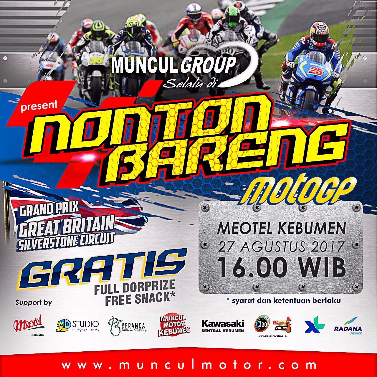 Muncul Group Bakal Gelar Nobar MotoGP di Meotel Kebumen