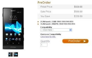 Sony Xperia sola Price