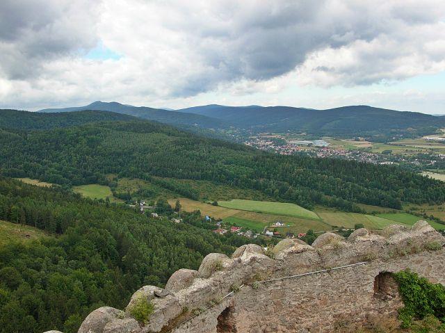 mury obronne, Chojnik, zamek, góry