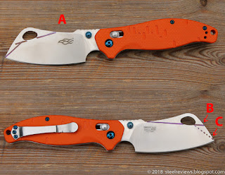 Ganzo F7551 Cleaver blade mod