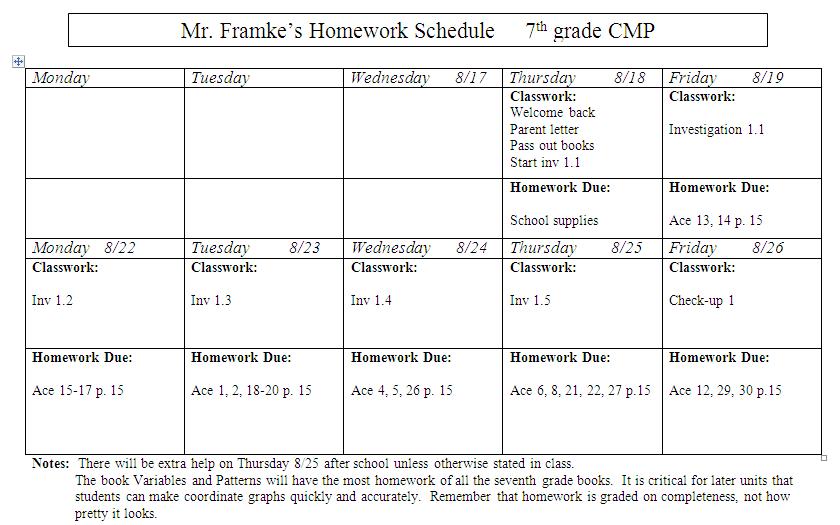 Slavens 7th Grade Math Homework Assignment Sheet 818 828