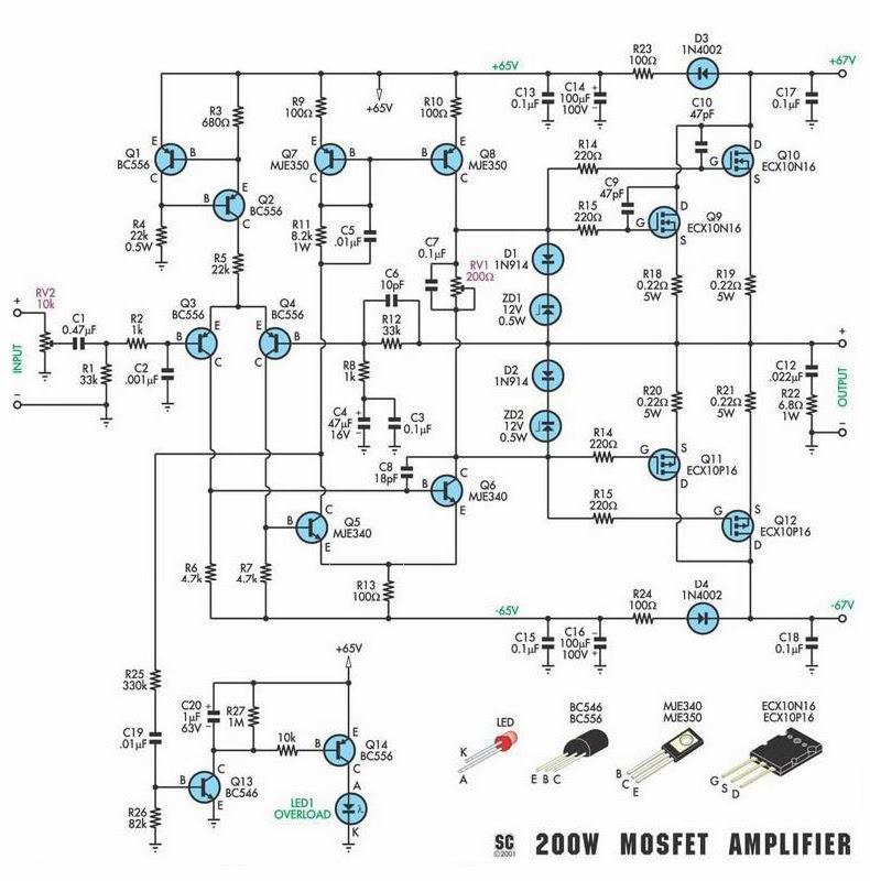 tea2025 subwoooferi circuit diagram