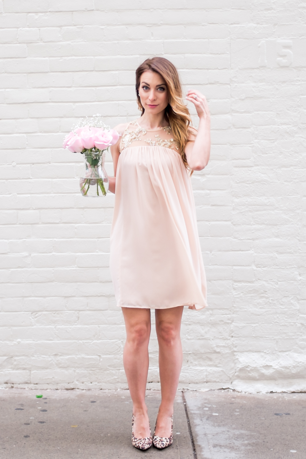 blush pink dress honey store toronto roselle