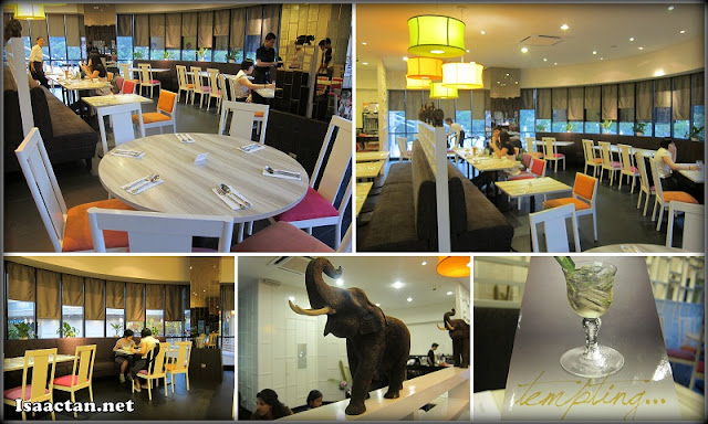 The comfortable interior of Soi Thai Restaurant