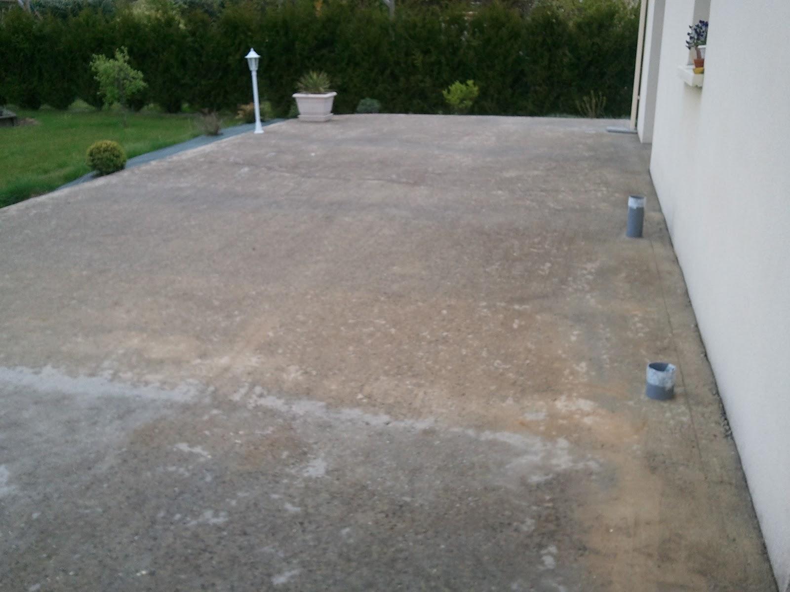 spot encastrable terrasse beton beton etanche pour. Black Bedroom Furniture Sets. Home Design Ideas