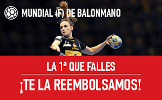 sportium Mundial Balonmano (F): Apuesta Sin Riesgo