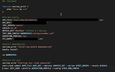 Xamarin Test Cloud custom bash script