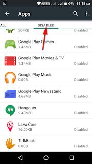 एंड्राइड मोबाइल में किसी भी apps को disable और enable कैसे करते है
