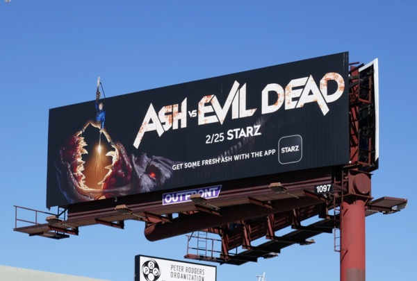 Ash vs Evil Dead season 3 Starz billboard
