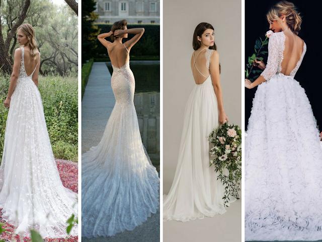 Vestidos de noiva sem costas
