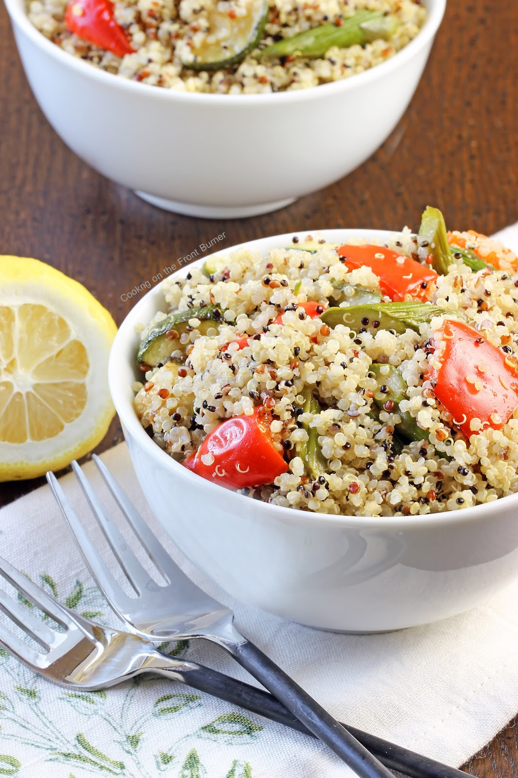 Quinoa with Roasted Veggies | Cooking on the Front Burner #grilling