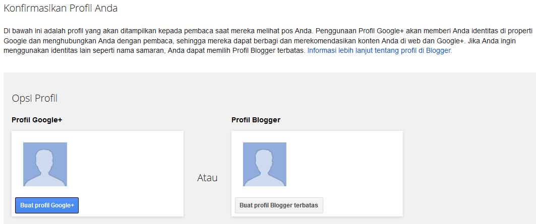 Cara mudah membuat blog baru dengan blogger