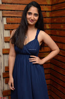 Radhika Mehrotra in a Deep neck Sleeveless Blue Dress at Mirchi Music Awards South 2017 ~  Exclusive Celebrities Galleries 057.jpg