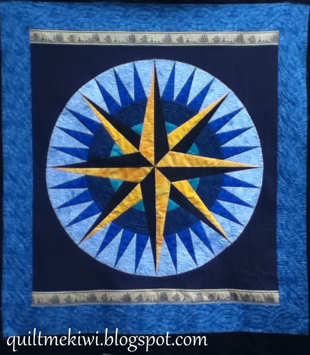 A Mariners Comp Custom Quilted And Round Robin Quilt All Over Quilting Design E2e First Is Annah S Mariner Made For Her Son Who