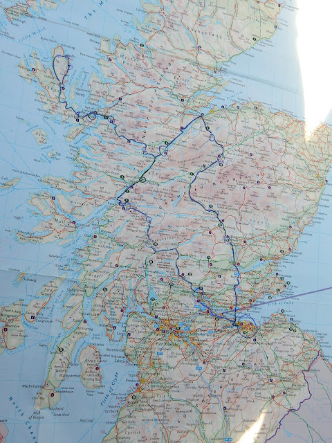 Road Trip Skye Scotland Map