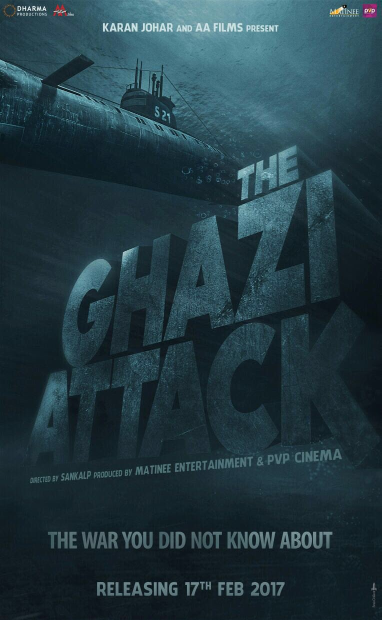The Ghazi Attack next upcoming movie first look, Poster of Rana daggubati and Taapsee Pannu download first look Poster, release date