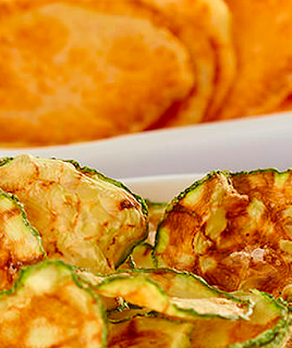 Receita de Chips de Batata Doce e Abobrinha