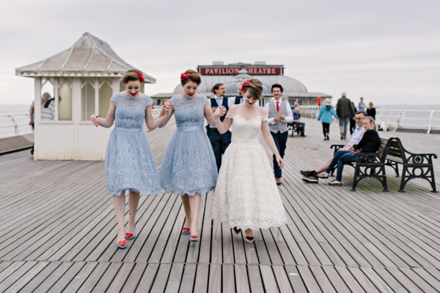 Wedding day on Cromer Pier