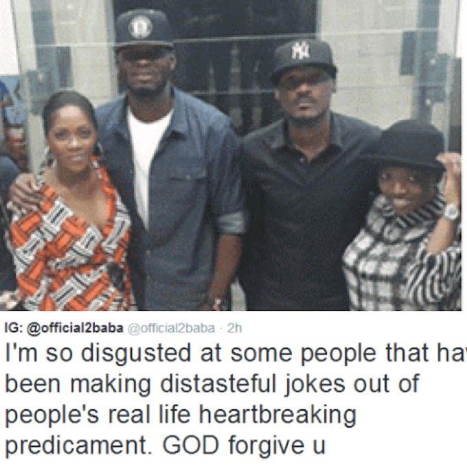 "2Baba reacts to the ""Distasteful Jokes"" being made about Tiwa Savage & Tee Billz"