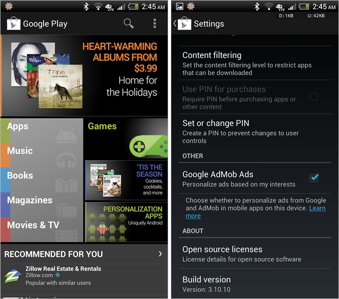 Google Play Store 3.10.10
