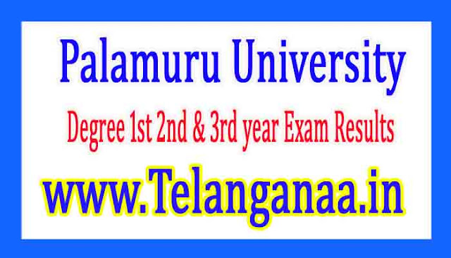 Palamuru University Degree 1st 2nd 3rd year Exam Results