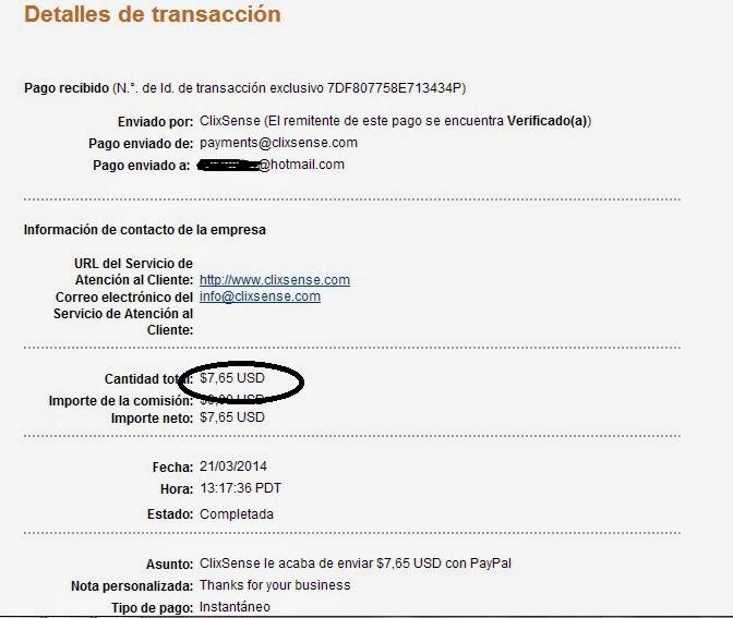 Ganar dinero por Internet - Clixsense
