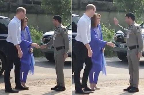 Soldier snubs Kate Middleton Hand Shake  on Royal Tour