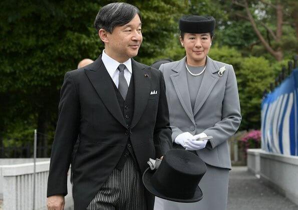 Emperor Naruhito, Empress Masako, Crown Prince Akishino, Crown Princess Kiko, Princess Mako and Princess Kako