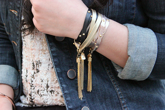 E. Kammeyer Accessories Leather Wrap Bracelets Arm Party Blogger