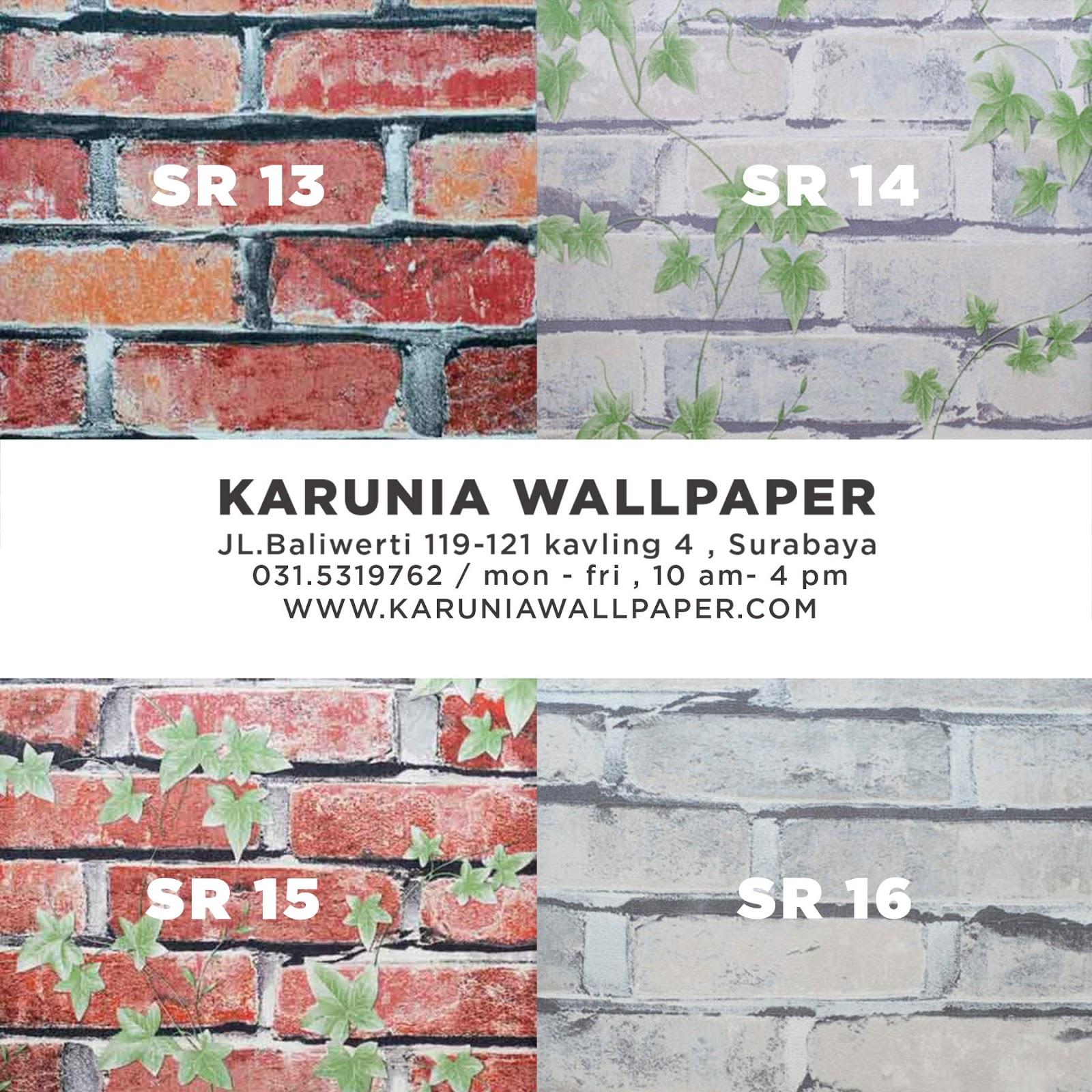 wallpaper dinding batu bata murah surabaya