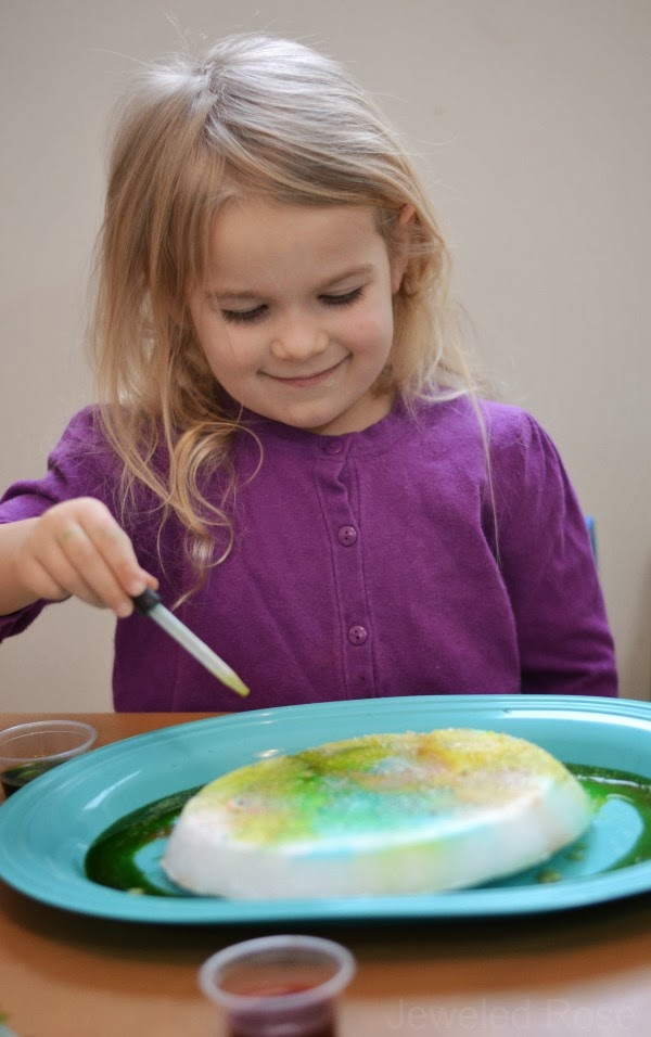 How to Make an Ice VOLCANO- fun Science kids love!